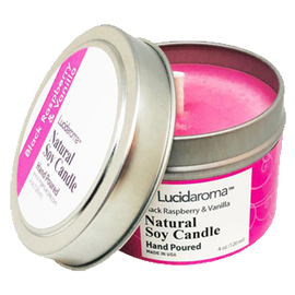 Lucid Aroma Black Raspberry & Vanilla Natural Soy Candle 4 oz