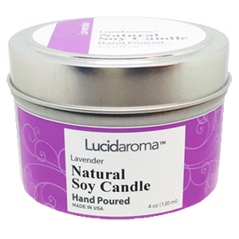 Lucid Aroma Lavender Natural Soy Candle 4 oz
