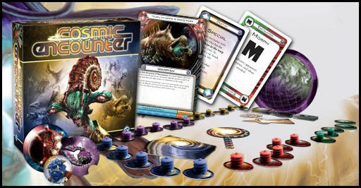 BoardGameCo Game Night – Cosmic Encounter & Founding Fathers & Priests of Ra