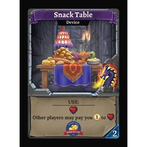 Clank! Snack Table