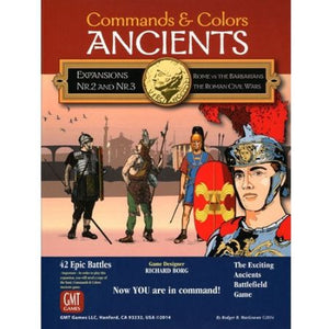 Commands & Colors Ancients Expansions #2 and #3 – Rome vs the Barbarians; The Roman Civil Wars