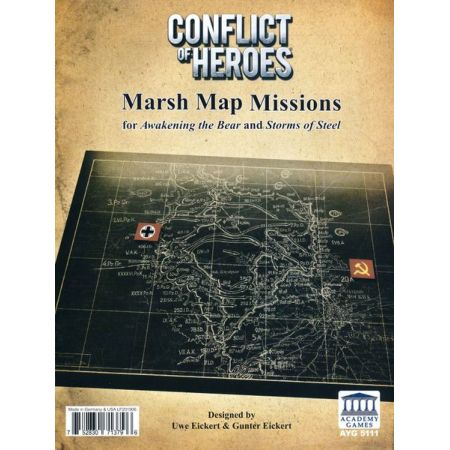 Conflict of Heroes Expansion Pack Map Board #6 – The Marsh