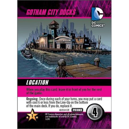 DC Comics Deck-Building Game Gotham City Docks Promo