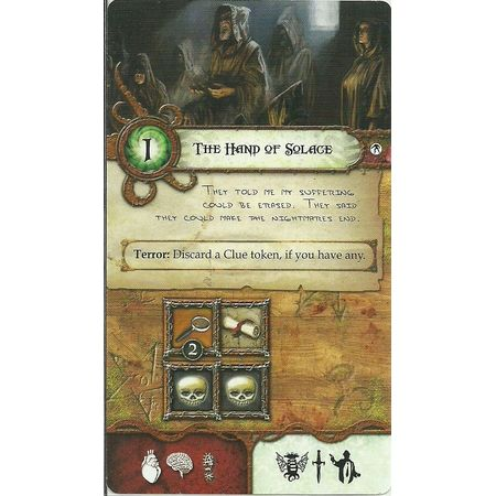 Elder Sign The Hand of Solace –  A Location Promotional Card
