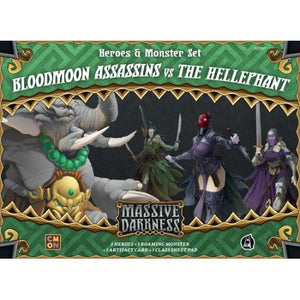 Massive Darkness Heroes & Monster Set – Bloodmoon Assassins vs The Hellephant