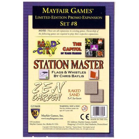 Mayfair Games' Limited Edition Promo Expansion Set #8