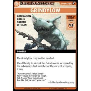 "Pathfinder Adventure Card Game: Rise of the Runelords - ""Grindylow"" Promo Card"