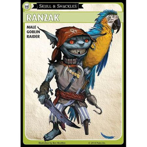 "Pathfinder Adventure Card Game: Skull & Shackles – ""Ranzak"" Promo Character Card Set"