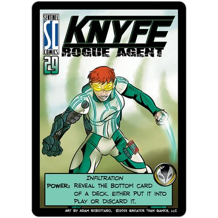 Sentinels of the Multiverse KNYFE Rogue Agent Promo Card