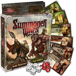 Summoner Wars Guild Dwarves vs Cave Goblins Components