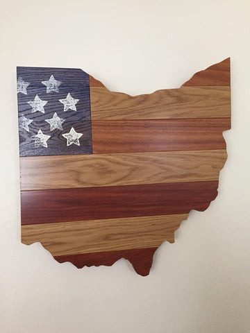 Ohio American Flag Custom Woodwork