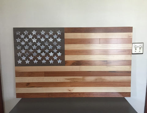 American Flag Custom Basketball Wood Work