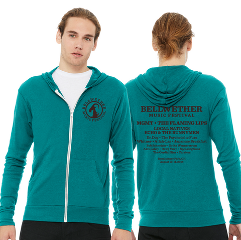 Bellwether Aqua Unisex Cali Style Lightweight Hoodie