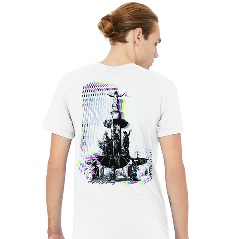 4 Color Glitch Fountain Square Tee