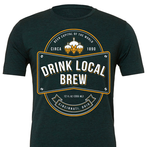 Drink Local Brew Emerald Tee