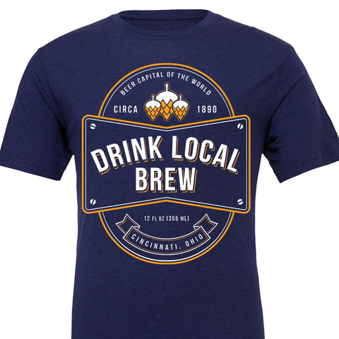 Drink Local Brew Navy Tee