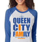Queen City Fam White 3/4 Sleeve