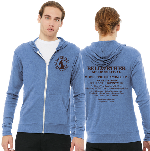 Bellwether Blue Unisex Cali Style Lightweight Hoodie