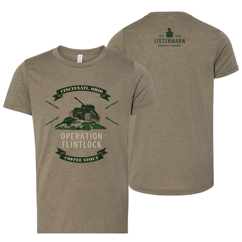Listermann Brewing Operation Flintlock Youth Tee