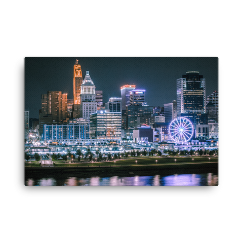 """Night City Skywheel"" - Canvas"