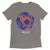 Short Vine Blue Soccer Ball Grunge (5 Color Options)