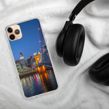 """Calm Rivertown Night"" - iPhone Case"