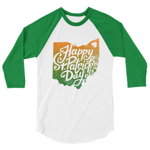 St Paddy's Dual Color 3/4 Sleeve