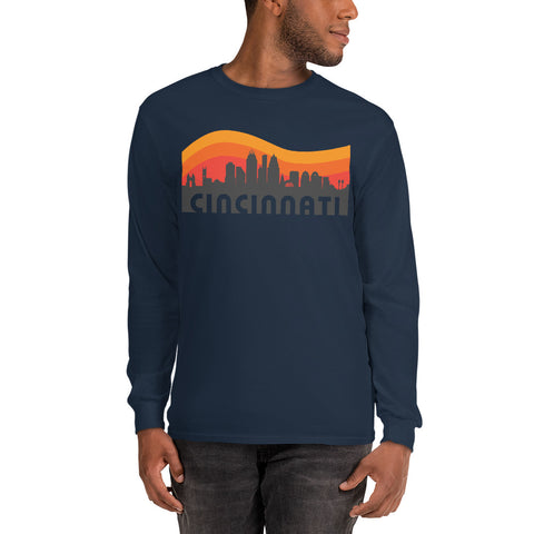 Retro Cincinnati Long Sleeve T-Shirt