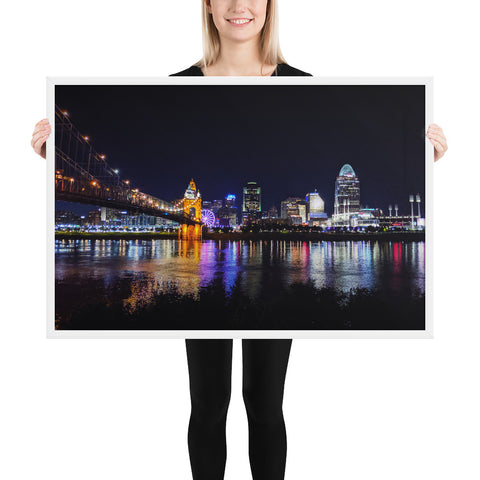 Cincinnati Skyline - Framed Poster