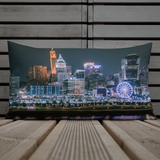 """Night City Skywheel"" Premium Throw Pillow"