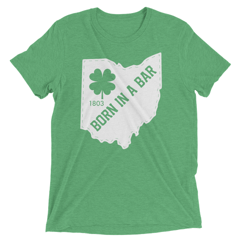 Born in a Bar St Paddys Tee