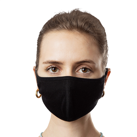 Black Protective Face Mask (3-Pack)