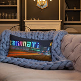 """Cincinnati Love"" Premium Throw Pillow"