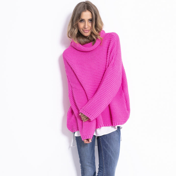 F811 Alpaca-Blend Turtleneck Sweater In Pink