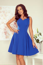 NEW 114-12 Royal Blue Sleeveless Skater Dress