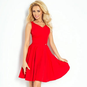 114-3 Fit & Flare Mini Dress In Red