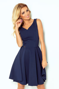 114-7 Fit & Flare Mini Dress In Navy
