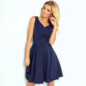 114-7 Fit & Flare Mini Dress In Navy Blue