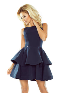 169-2 Fit & Flare Mini Dress In Navy Blue