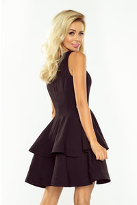 169-3 Fit & Flare Mini Dress In Black