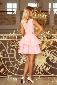 169-5 Fit & Flare Mini Dress In Pink
