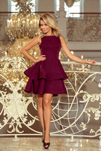 169-7 Fit & Flare Mini Dress In Burgundy