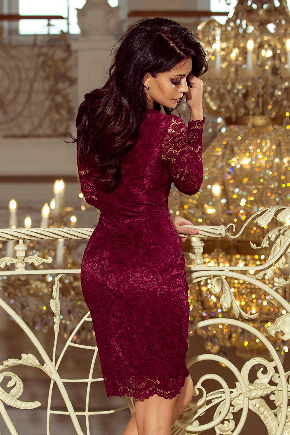 170-5 Burgundy Lace Bodycon Dress – ellaboutique 2b158bf1971d