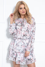 F1017 Two Piece Set Mini Dress In Powder Pink Floral Print