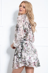 F979 Two Piece Set Mini Dress In Floral Print