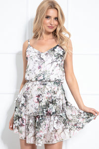 F985 Two Piece Set Strap Mini Dress In Floral Print