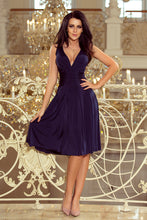 219-1 Fit & Flare Knee-Length Dress In Navy