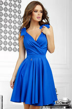 2209-05 Fit & Flare Mini Dress In Royal Blue