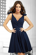 2209-01 Fit & Flare Mini Dress In Navy