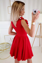 2209-02 Fit & Flare Mini Dress In Red